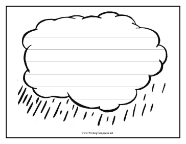 Six Widely Spaced Handwriting Lines Are Featured On A Raincloud In