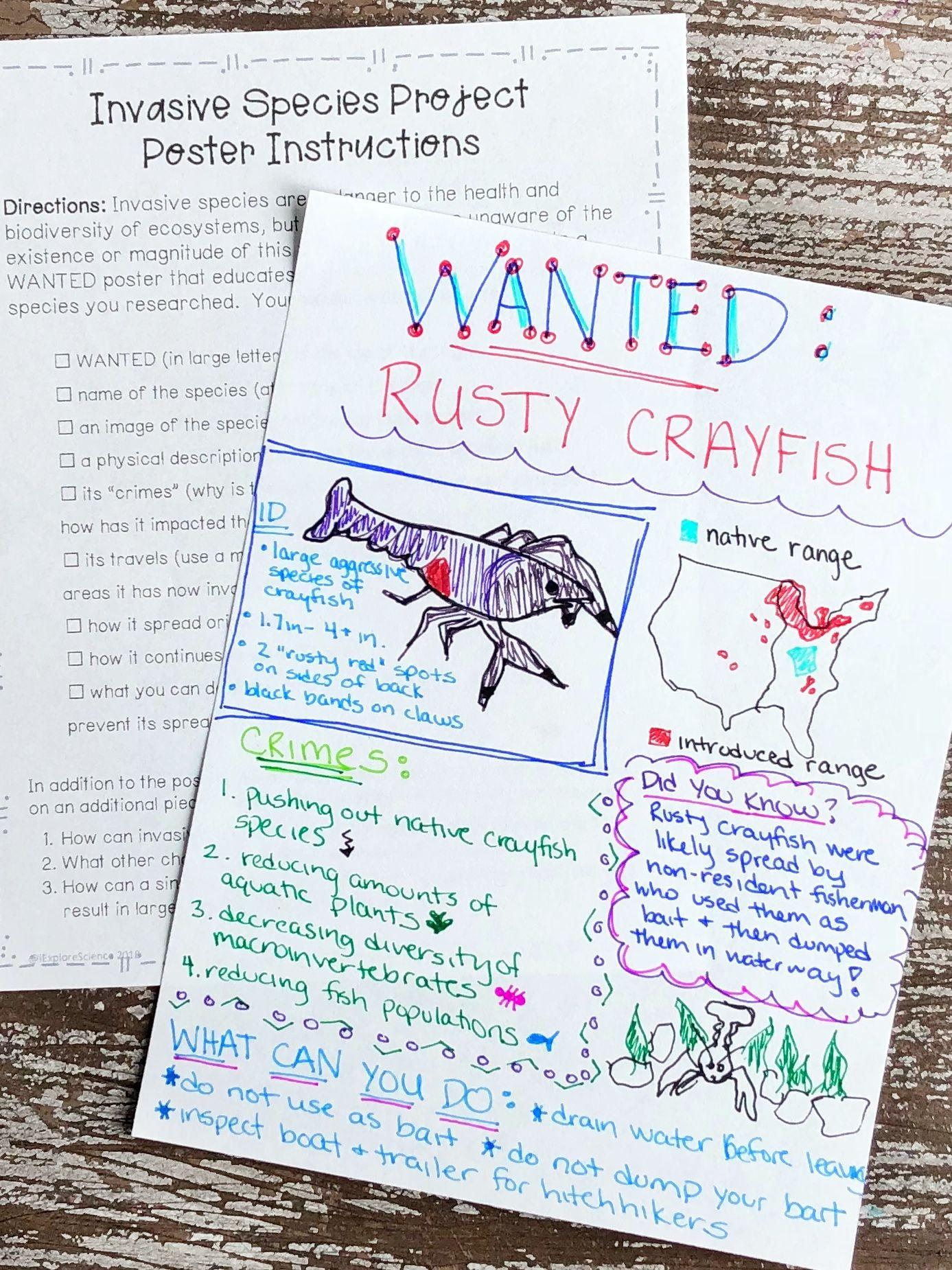 Invasive Species Worksheet