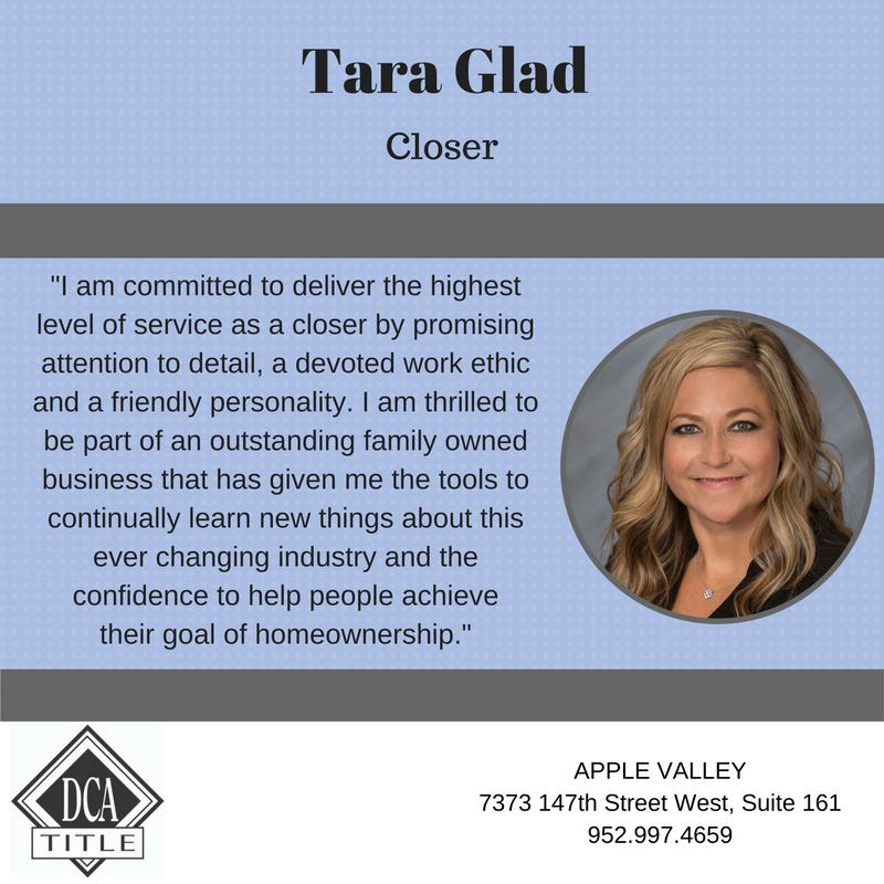 Tara Glad Dca Title Executive Closer Dca Business Courses