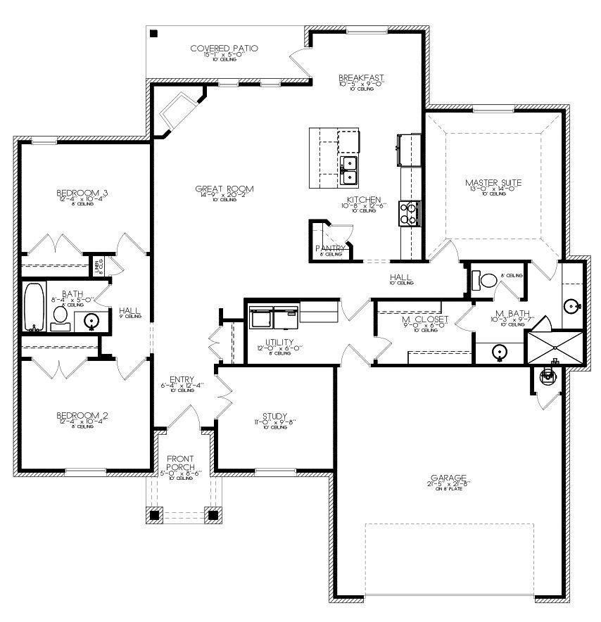 New Homes In Edmond Oklahoma City Unique Floor Plans The Mark Plan Unique Floor Plans Floor Plans How To Plan