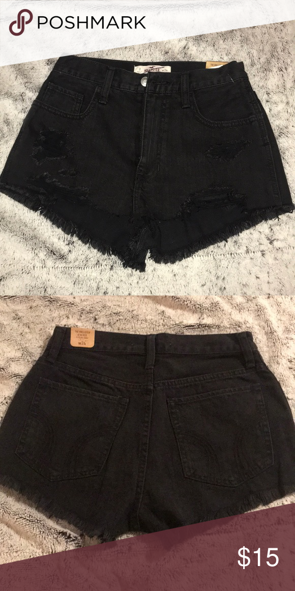 black high waisted shorts hollister
