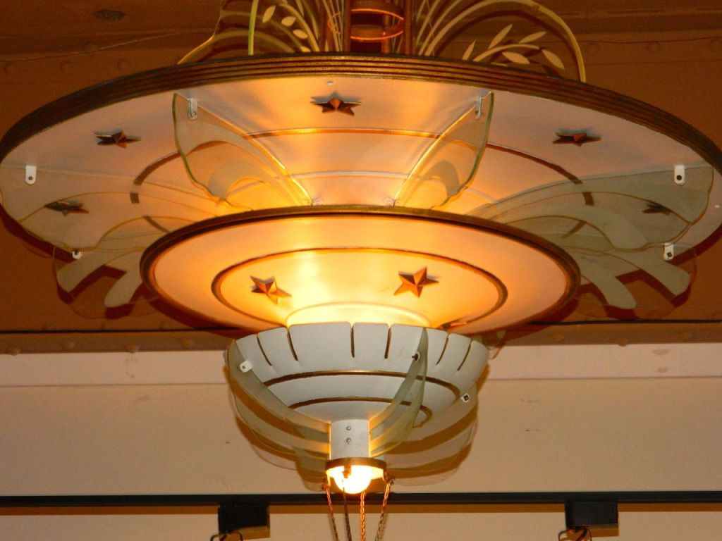 Spectacular art deco original movie palace chandeliers palace and