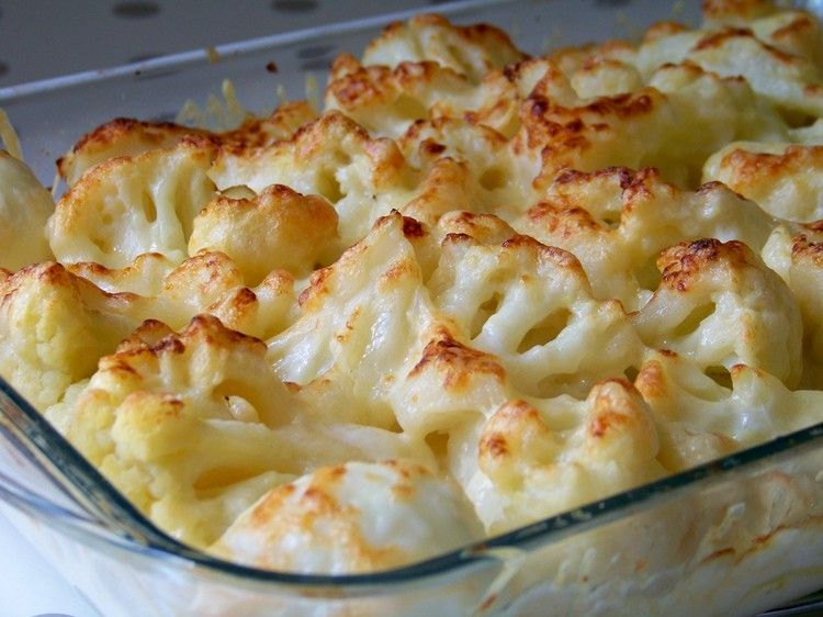 Recette de Grtain de chou-fleur, pommes de terre et parmesan : la recette facile