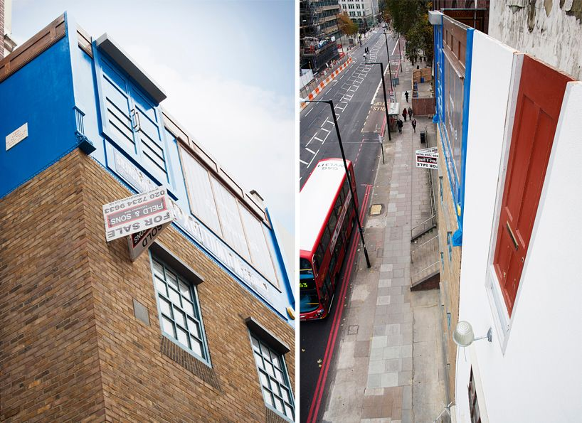 alex chinneck inverts a london building near blackfriar's bridge