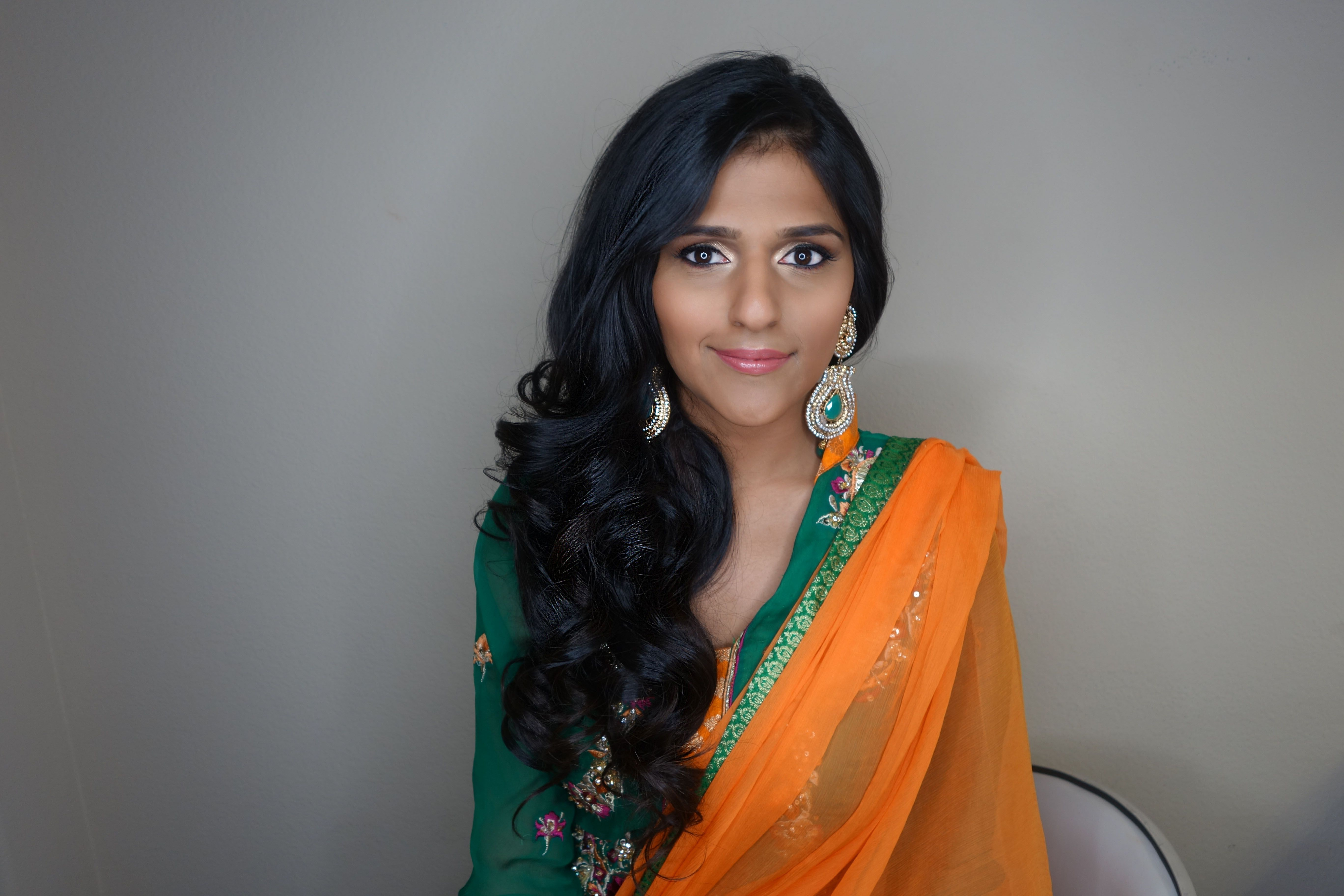 Makeup For Mehndi Night : Traditional indian bridal hair and makeup for mehndi night by
