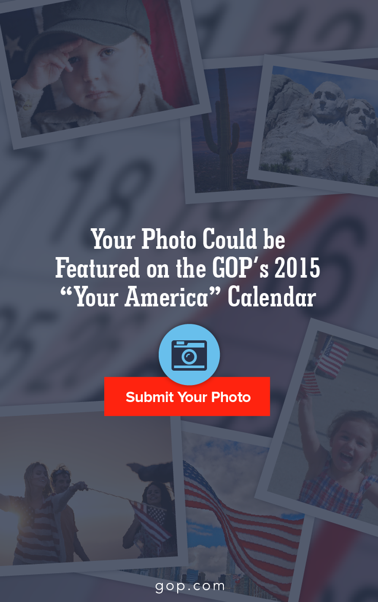 Imagine flipping the page to October and seeing your photo on #teamgop's official 2015 calendar. Enter the contest & show us what America means to you.