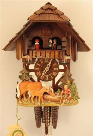 Cuckoo Kingdom, Inc - Black Forest Cuckoo Clock, Chalet, Horses, Dancers, Model