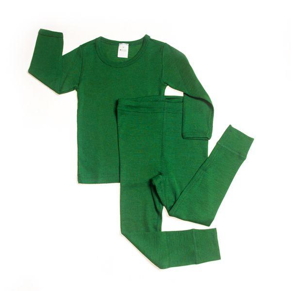 Hocosa Organic Merino Wool Silk Blend 70 30 Long John Sets For
