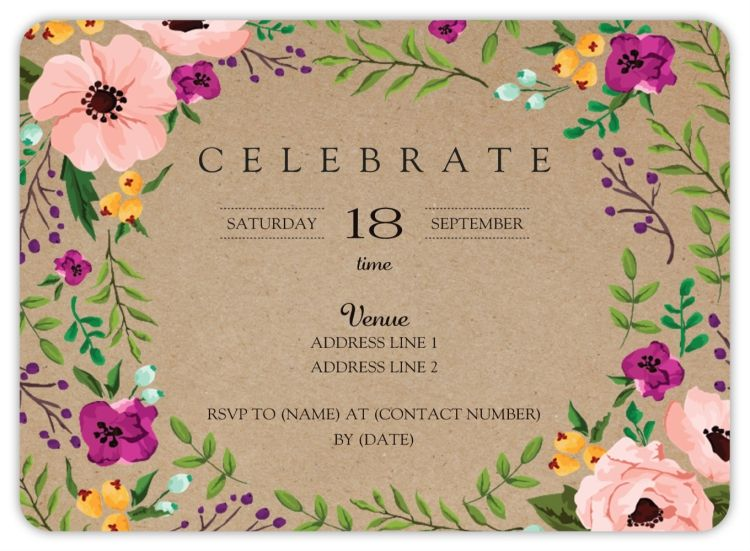 Rounded Corner Invitations In 2019 Products Vistaprint