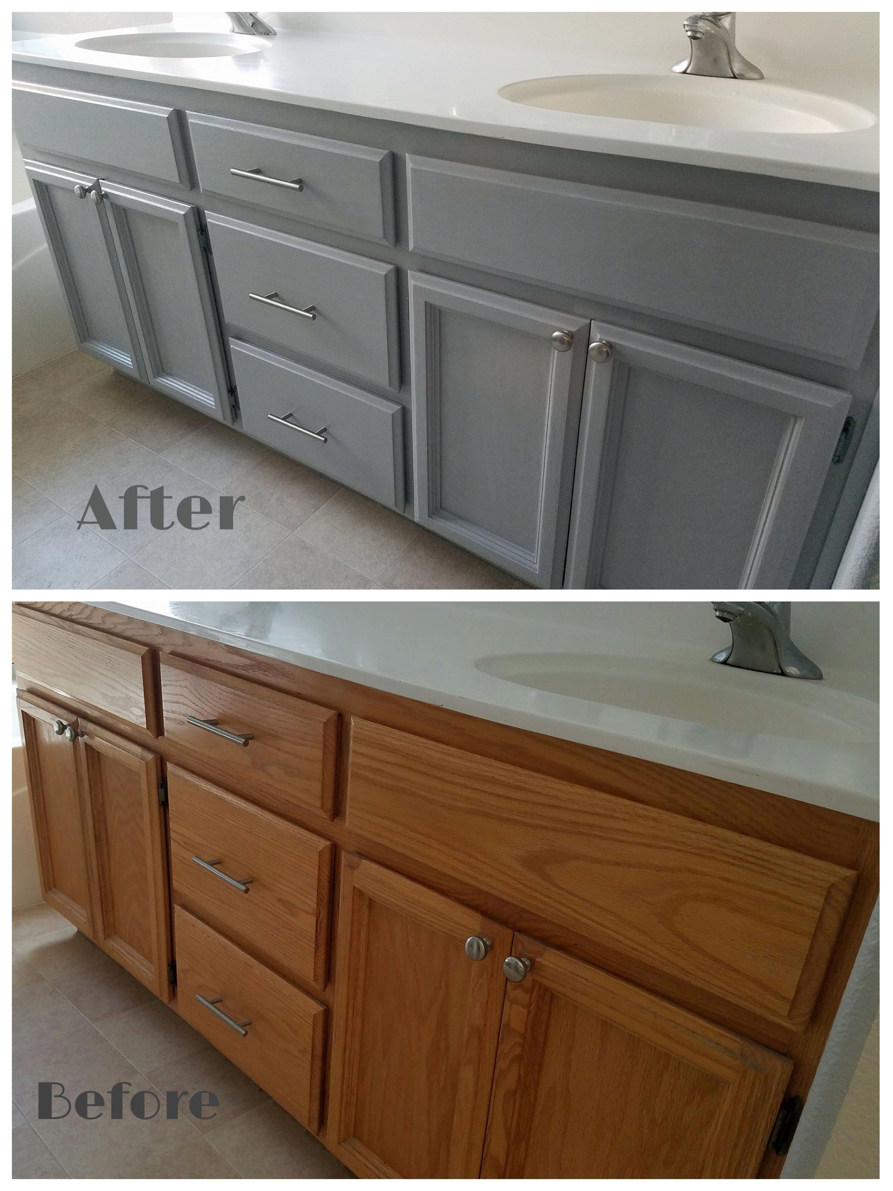 Painted Bathroom Vanity Badezimmerschranke Grau Bad Gunstig Renovieren Tolle Badezimmer