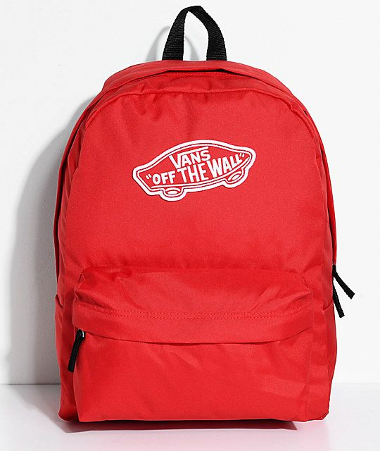 Vans Realm Racing Red 22L Backpack in 2019