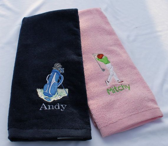 Custom Embroidered Golf Towel | Embroidery and clothing ideas | Golf