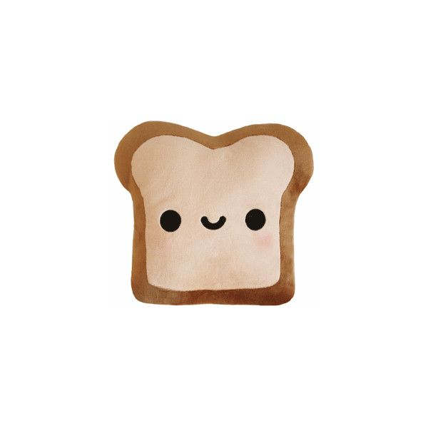 Cute Plush   Plush Toast Pillow (double Sided!) ($30) ❤ Liked