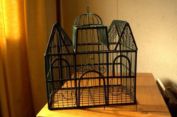 BIRD CAGE vintage wire cage