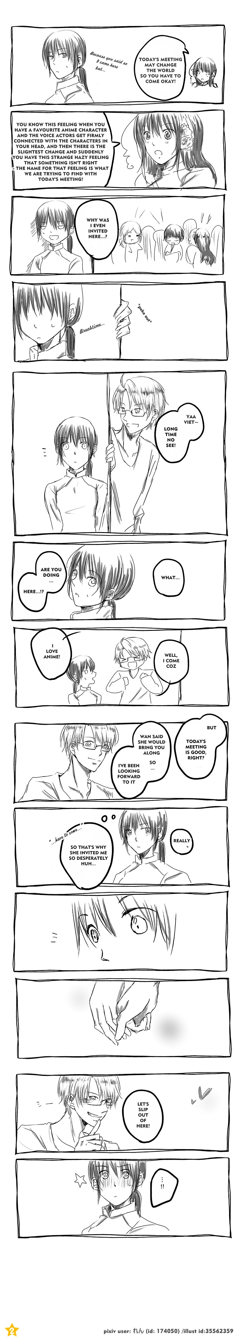 """Alfred, you sly boy :"""") Vietnam and America comic strip: APH Ameviet forever babe!"""
