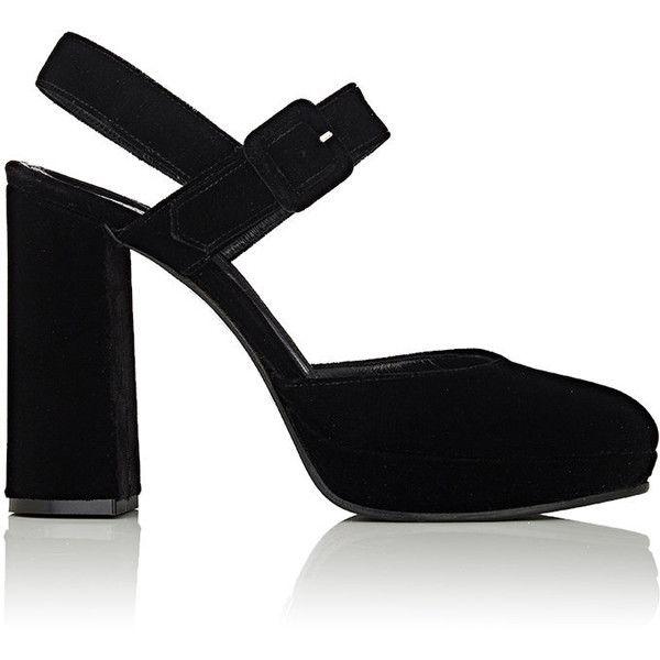 c6ccb8d99cda Barneys New York Women s Velvet Platform Ankle-Strap Sandals ( 325) ❤ liked  on
