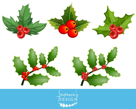 Christmas Holly Clip Art.Pin On Products