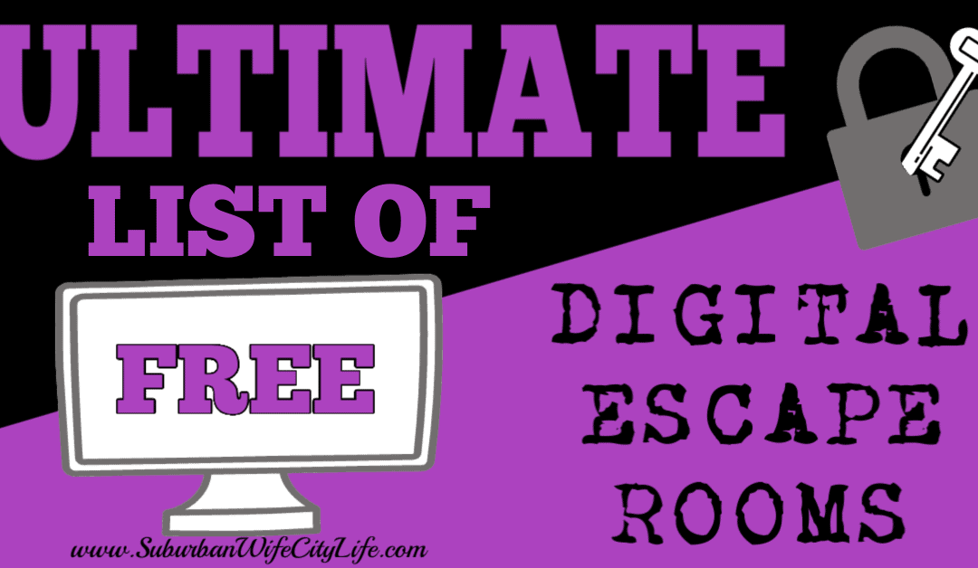 Ultimate List Of Free Virtual Escape Rooms Escape Room Building Games For Kids High School Science