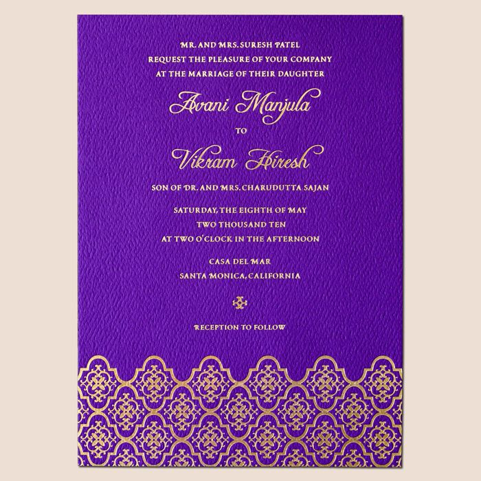 Hindu Wedding Invitation Cards | Vintage Hindu wedding invitations ...