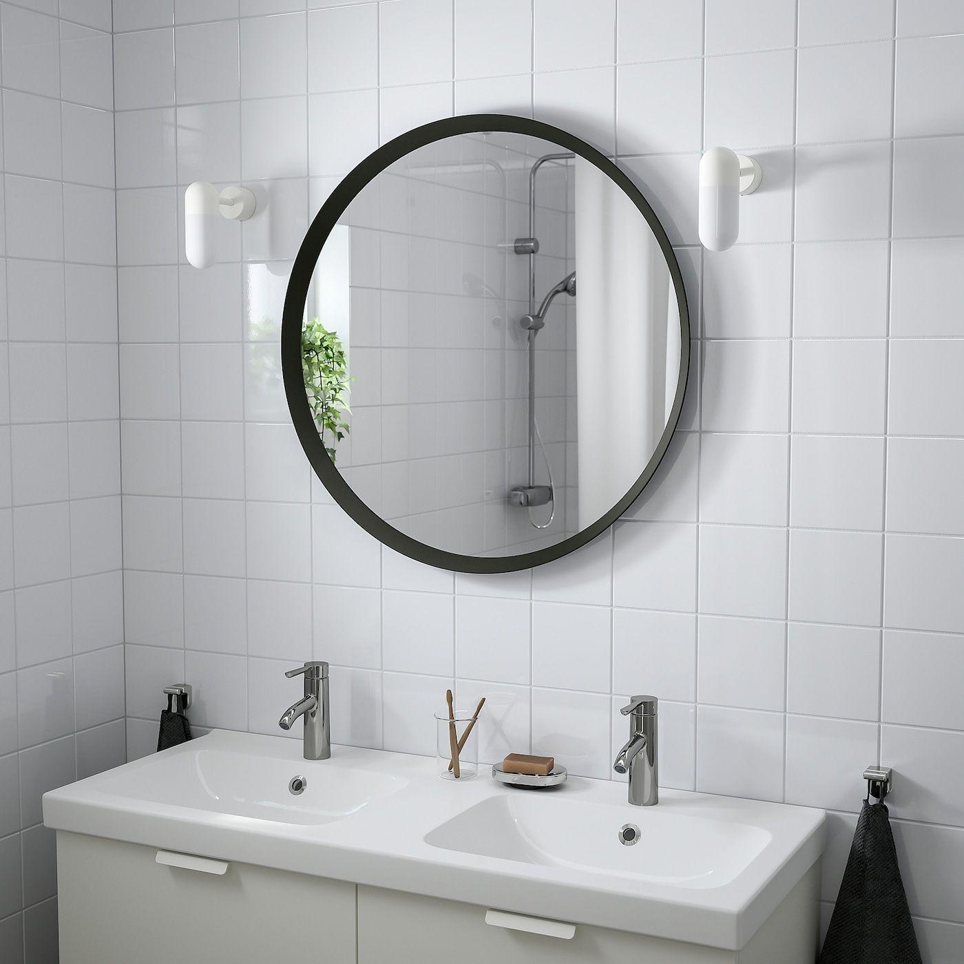 LANGESUND Mirror - dark gray - IKEA in 6  Mirror wall bathroom