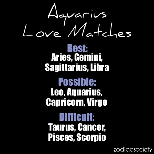 What Are Good Matches For Aquarius