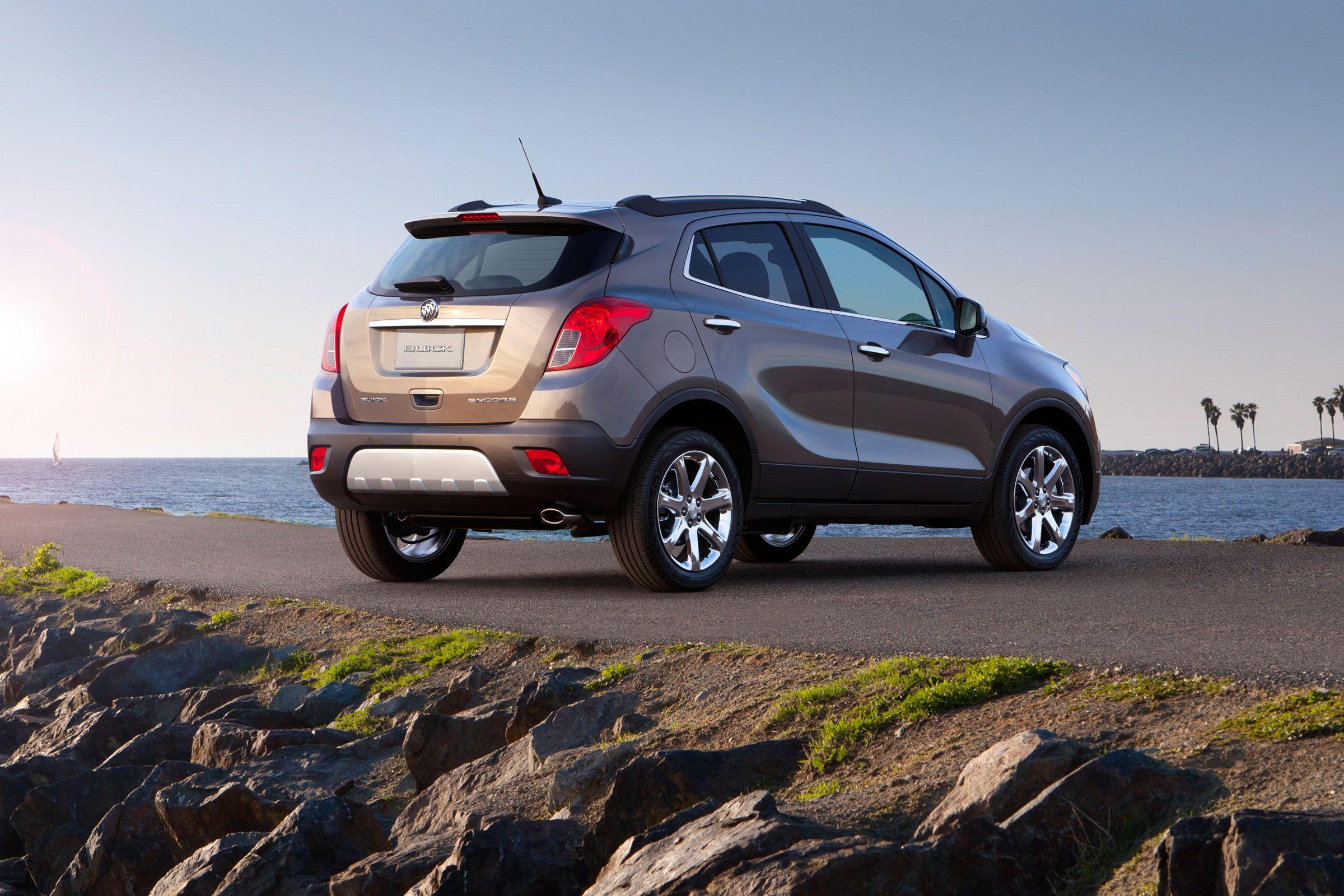 2013 Buick Encore Rear Top 10 Best Gas Mileage Suvs 2014 Buick Encore Buick Envision Buick