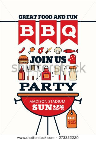 grilled bbq party icon style for invitation car or flyer or poster - bbq flyer