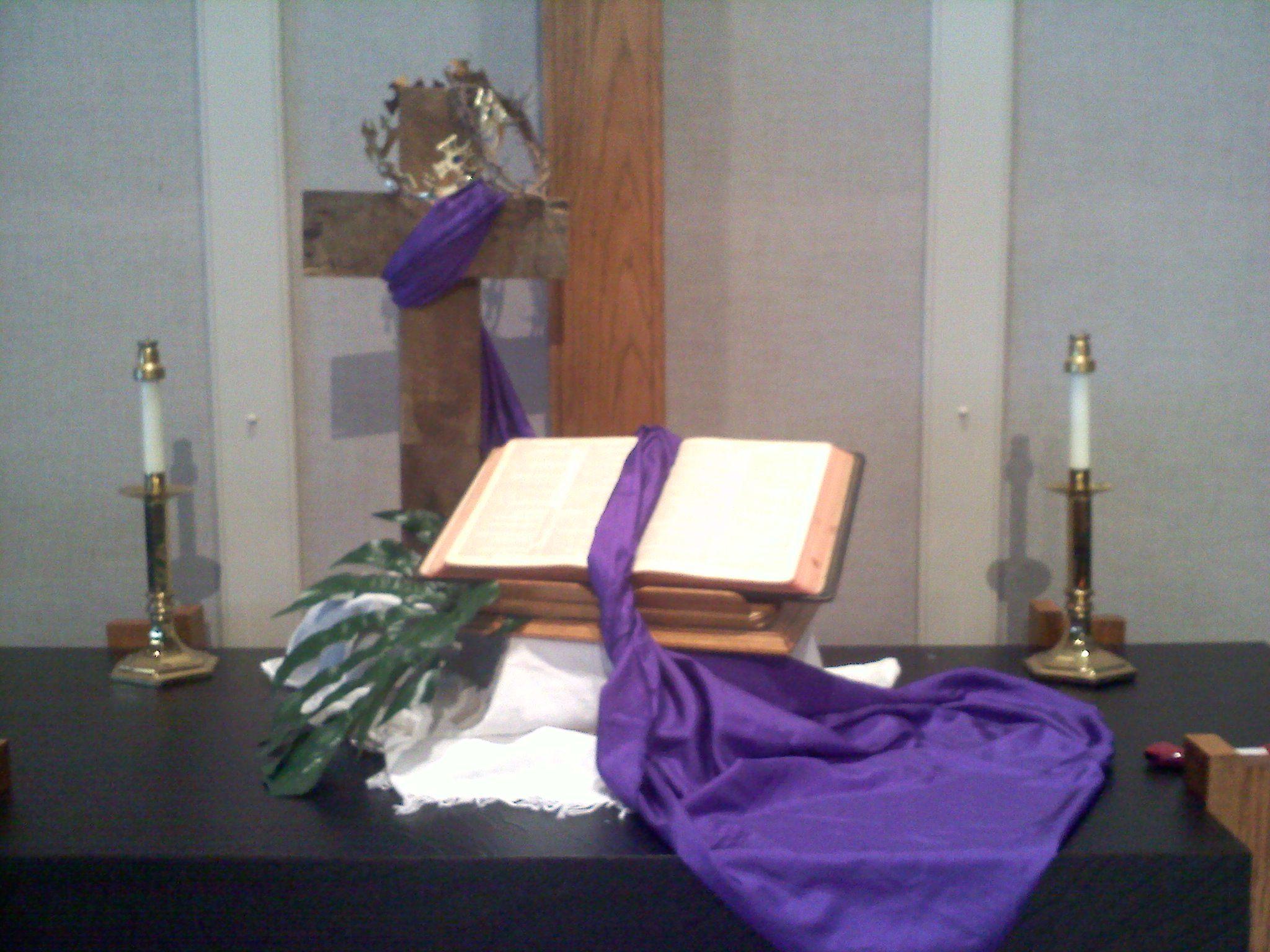 Methodist church altar decorations google search for Altar decoration ideas