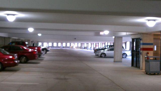 Parking Garage After Lighting Retrofit