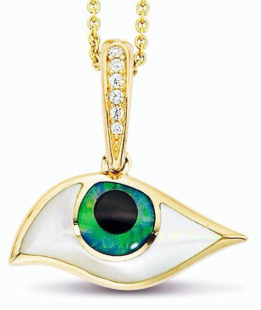 Kabana jewelry kalo mati 14k yellow gold evil eye pendant with inlay kabana jewelry kalo mati 14k yellow gold evil eye pendant with inlay the eye pendant is aloadofball Gallery