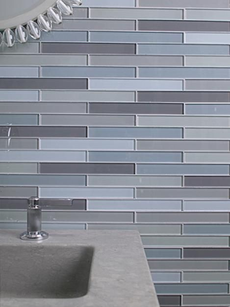 vertical glass tile feature with shaving ledge showers pinterest mountain houses and house