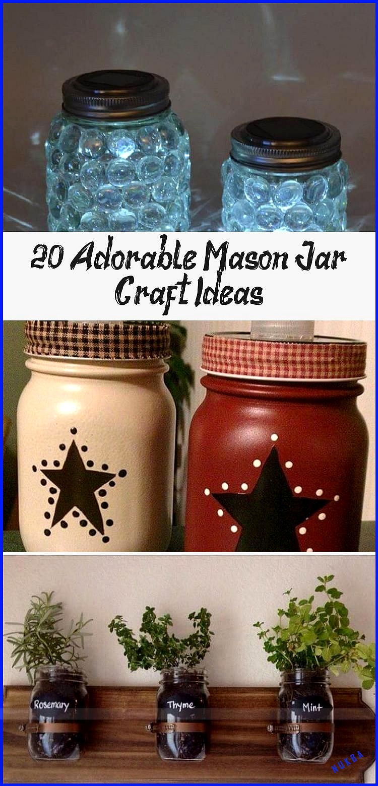 20 Adorable Mason Jar Craft Ideas #masonjarbathroom 20 Adorable Mason Jar Craft ... #masonjarbathroom