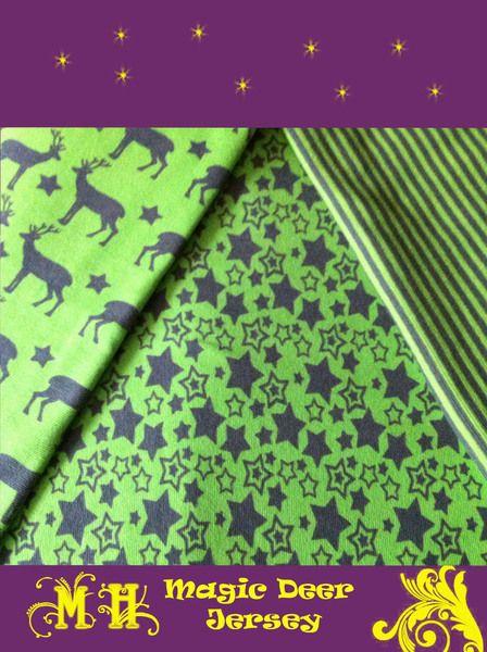Toller Biostretch-Jersey nach dem Design von Janeas World    Dieser Sternen Jersey ist mit den Stoffen aus der Serie gut kombinierbar und auch zu ande