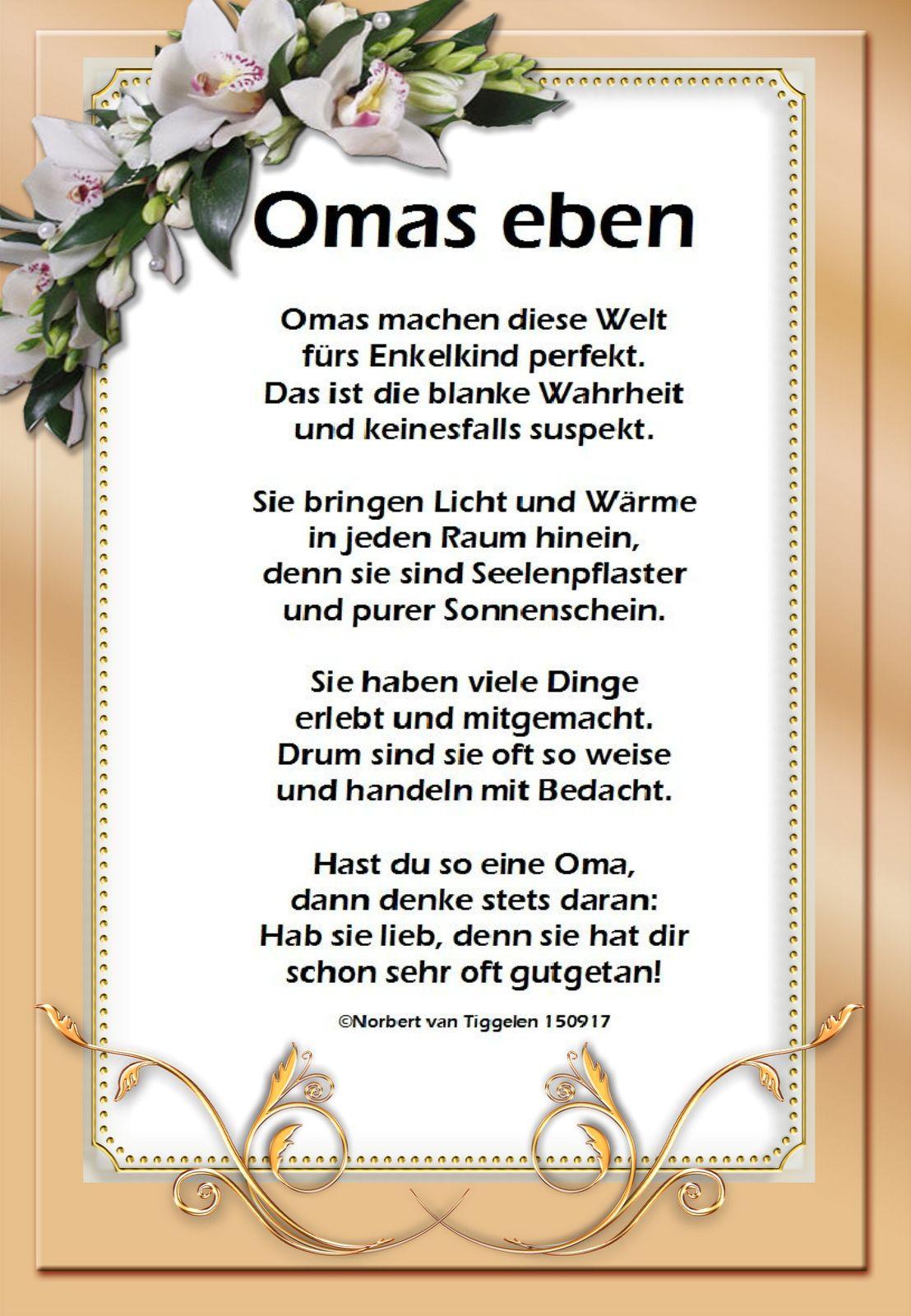 Rosinante Gedichte Und Spruche Spruche Fur Oma Geburtstag Gedicht