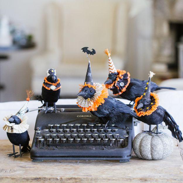 20 spooktacularly elegant diy halloween decor ideas - Halloween Crow Decorations