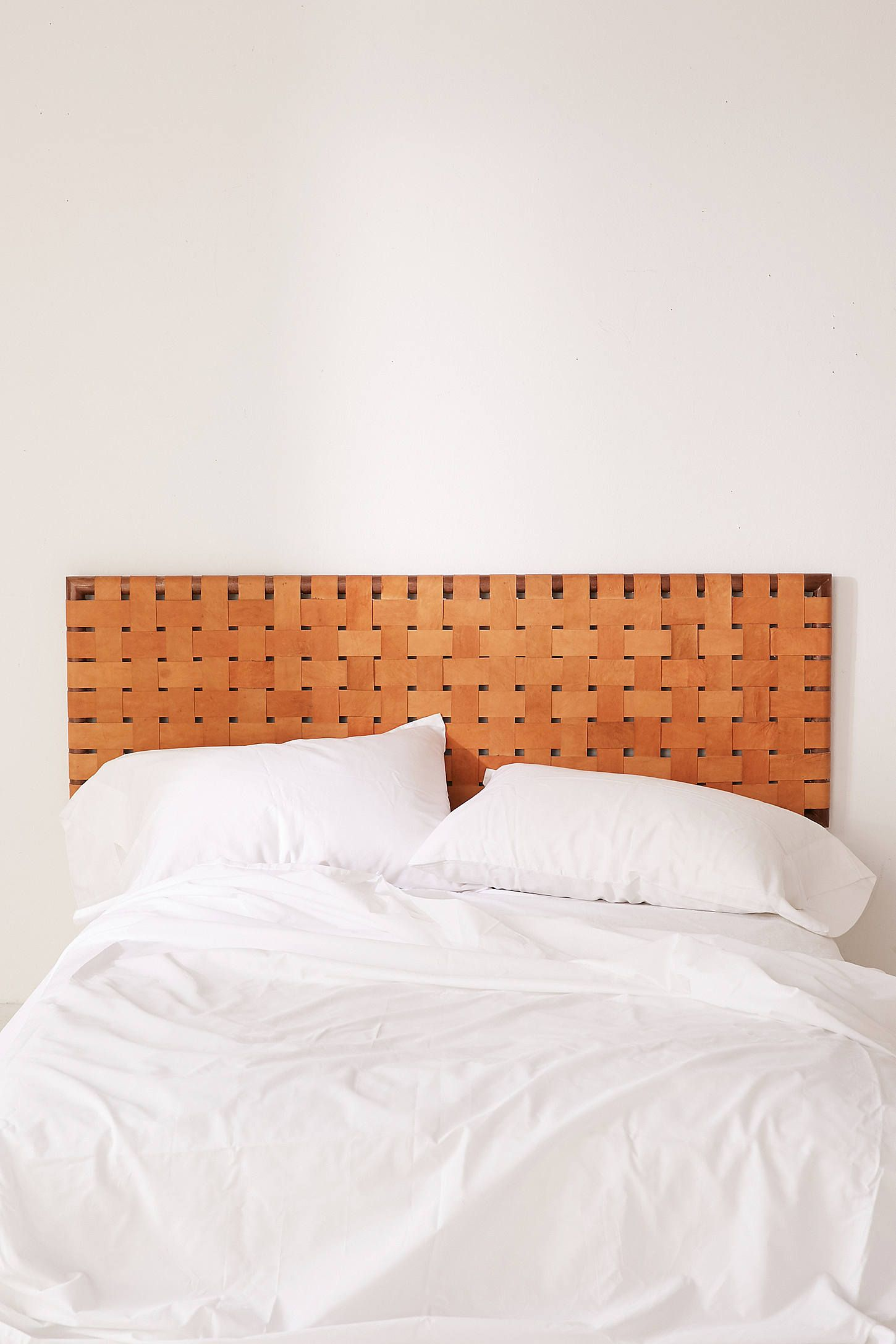 Shop Alda Woven Leather Headboard at Urban Outfitters today We