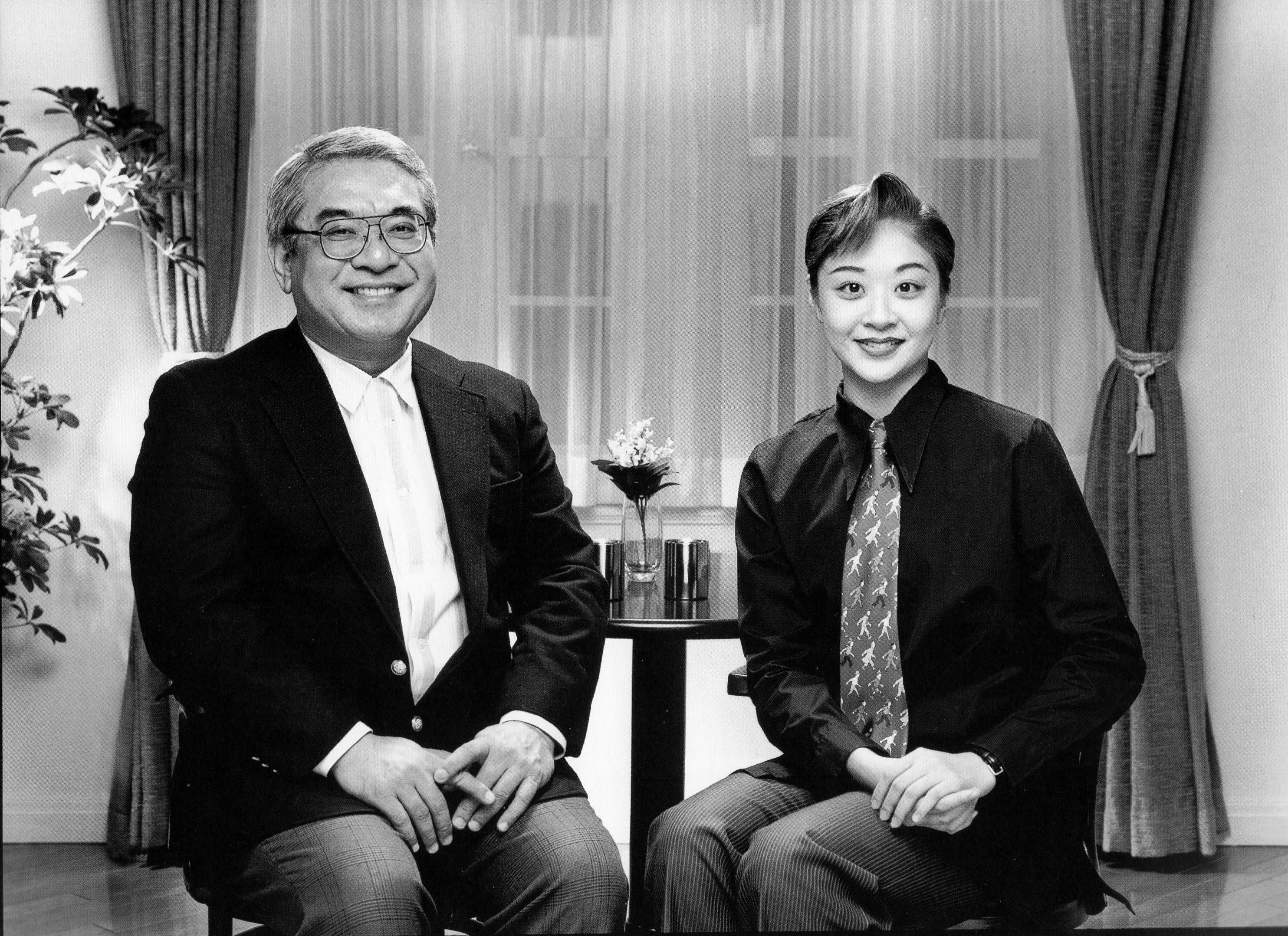 羽田健太郎と長女・吹雪あゆ(撮影時宝塚・星組)1996年立木義浩写真集「親と子の情景」より