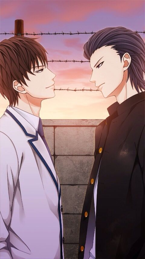 You guys are Prefection♡♡ Kissed by the baddest bidder Soryu's Birthday Special Item Eisuke and Soryu's photo from their time as students.