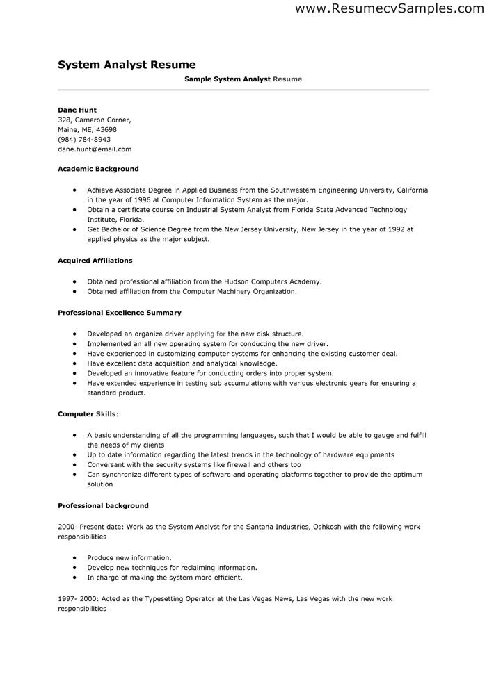 Data Analyst Resume Sample Professional Resume Templates Data Analyst Resume Resume Summary
