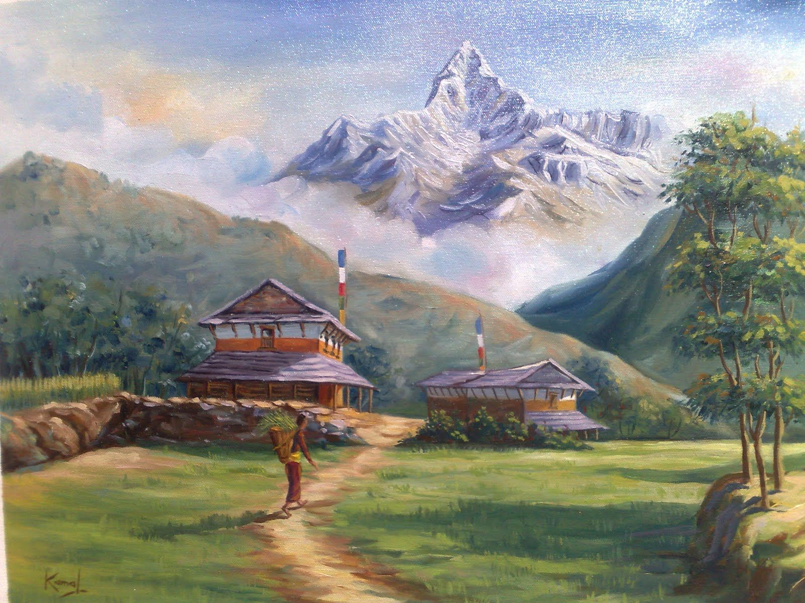 Lalitkala Creations: Beautiful watercolor landscape paintings by ...