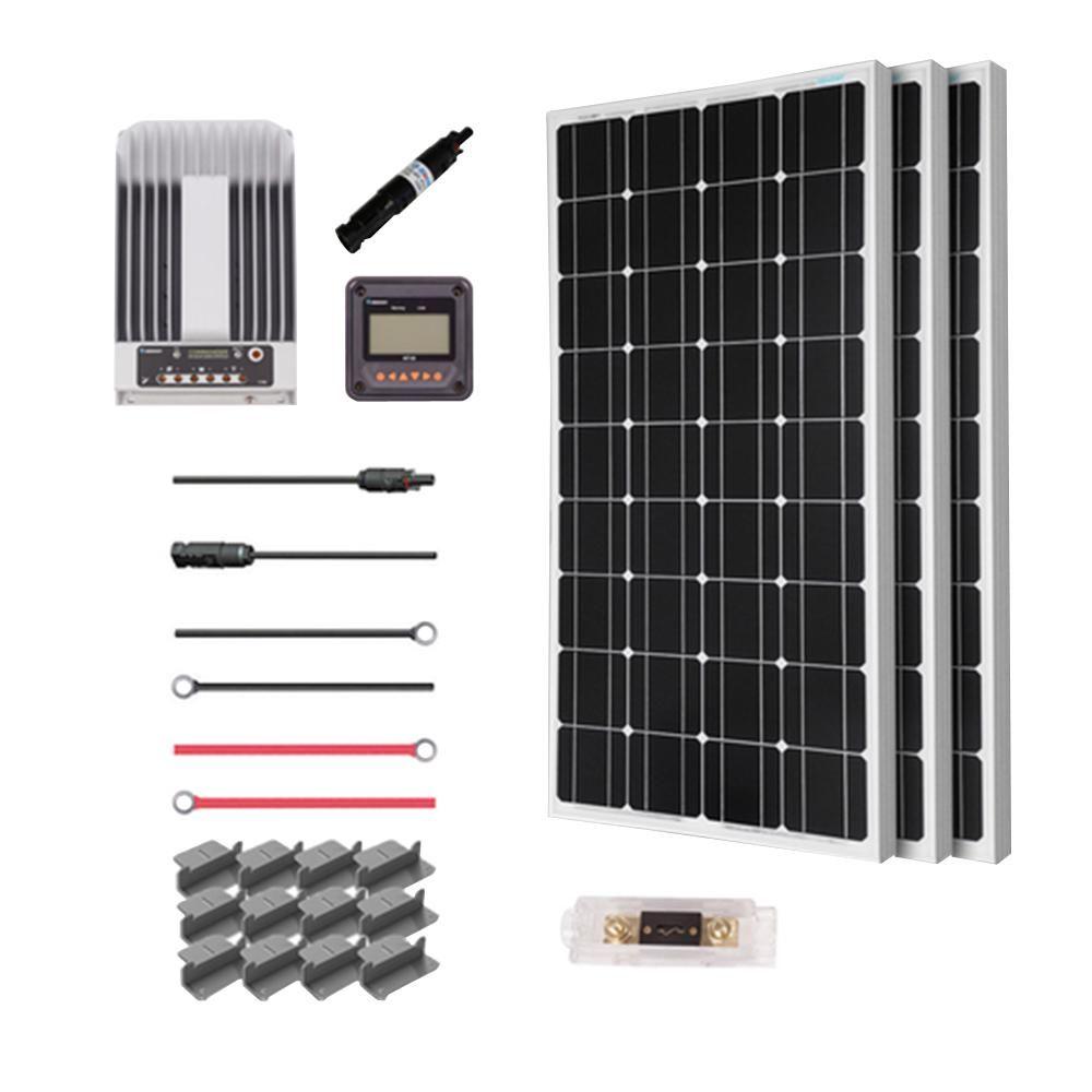 Rng Group 300 Watt 12 Volt Mono Solar Premium Kit For Off Grid Solar System Off Grid Solar Solar Panel Kits Solar Panels