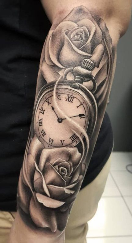 17+ New Ideas Tattoo Forearm Clock Half Sleeves
