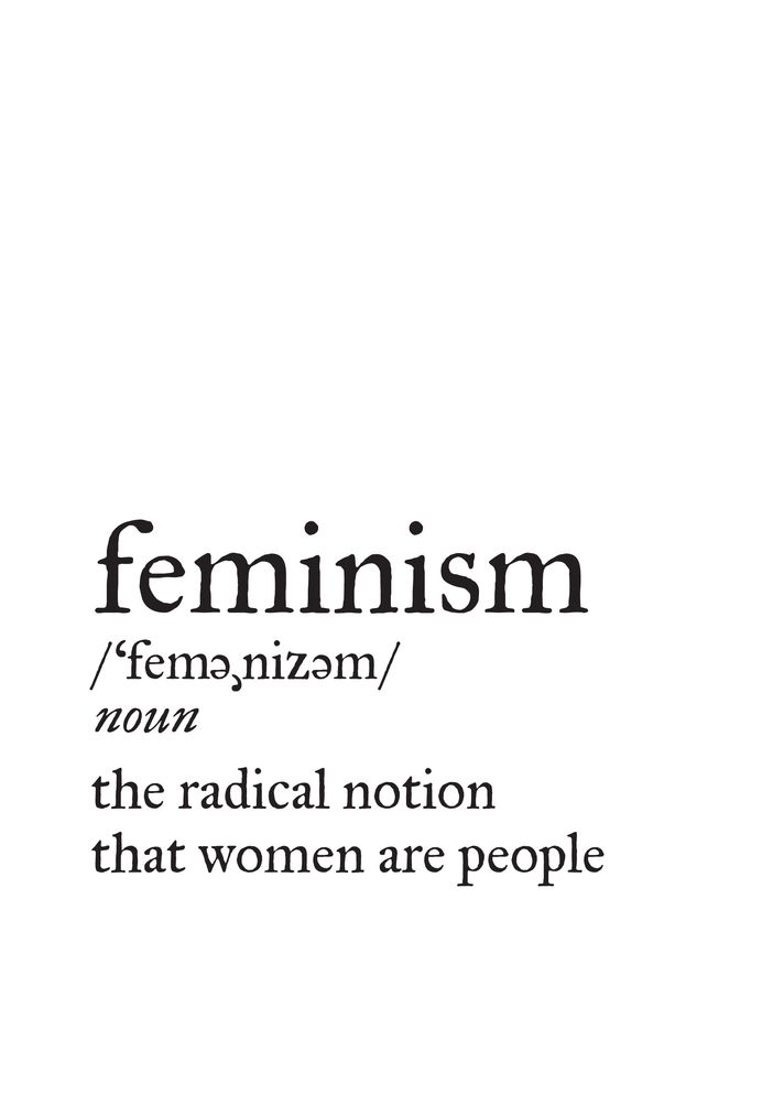 Feminism Definition Throw Pillow by Little Gold Pixel
