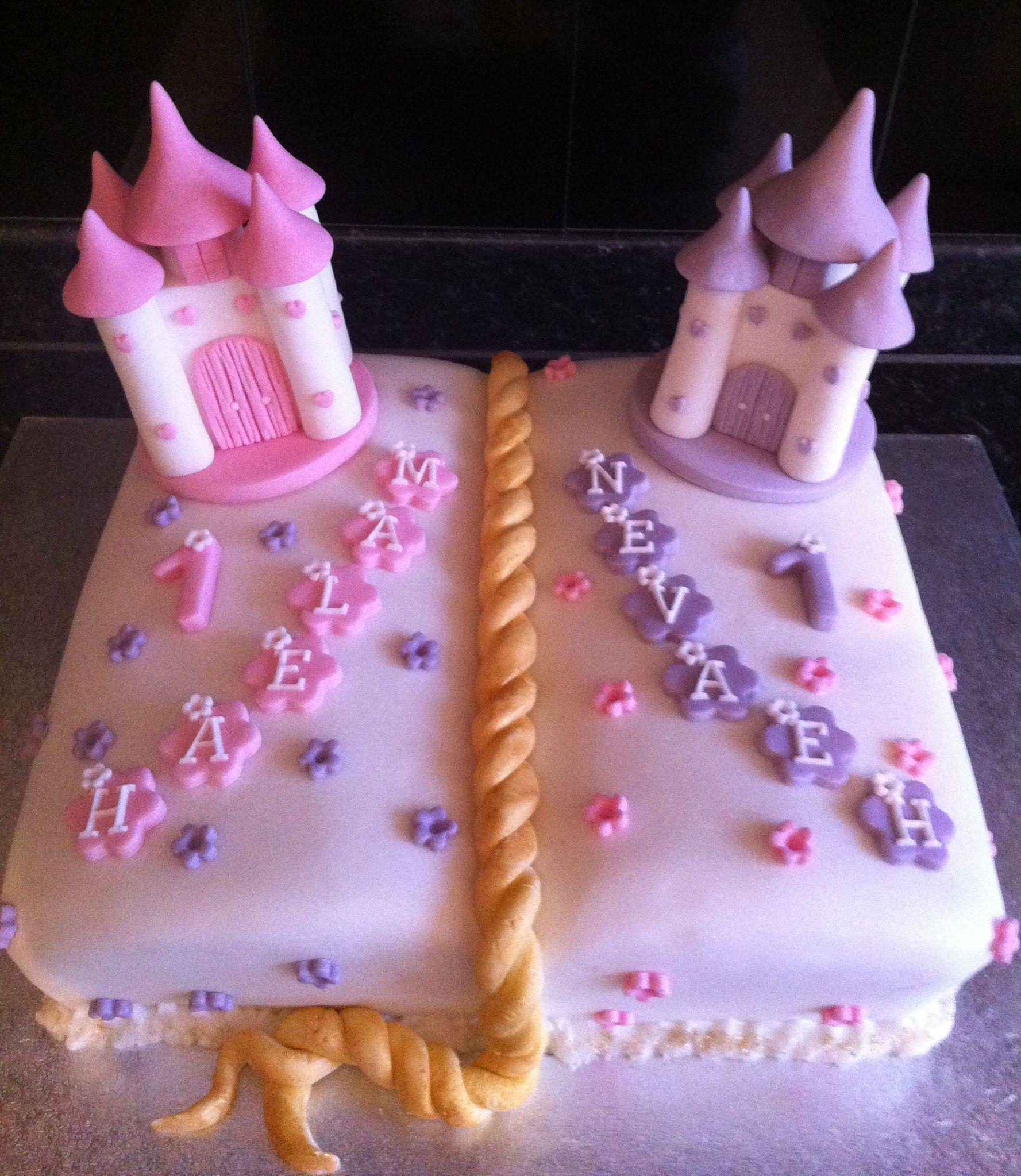Torta tlet iker lnyoknak Twins Birthday cake Tortk Ikreknek