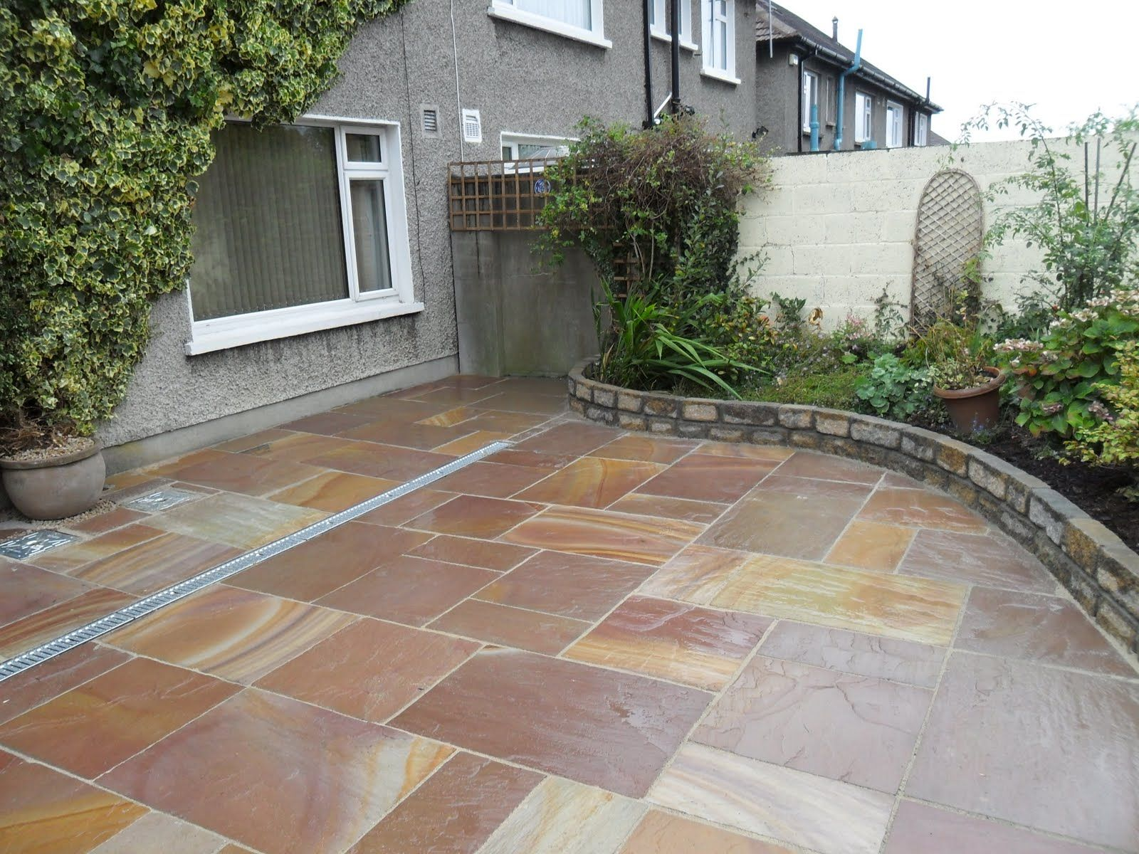 boarderd patios design blog garden design indian sandstone patio