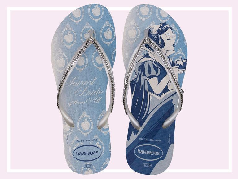 5903db2f0aac This Disney Princess and Havaianas Bridal Flip-Flop Collection Is What Your  Honeymoon Needs