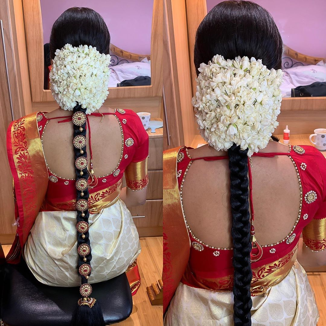 Hairstyles With Flowers Kerala: Pin By Malar Kandiah On Hair