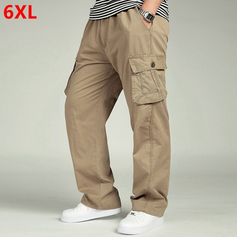 Men Cargo Pants Trousers Spring Loose