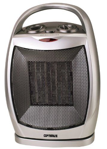Optimus H 7247 Portable Oscillating Ceramic Heater With Thermostat 2 Heat Settings 750 And 1500 Watt Automatic Thermo Portable Heater Ceramic Heater Heater