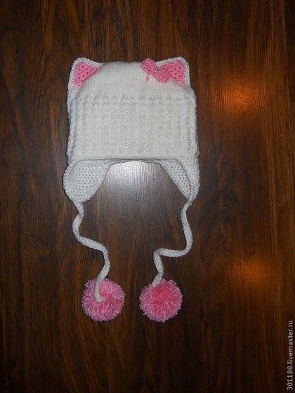 """Одежда для девочек, ручной работы. Ярмарка Мастеров - ручная работа Шапка """"Кошечка"""". Handmade."""